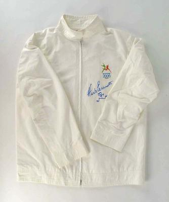 Tracksuit & shirt worn by Herb Elliott, Queen's Baton Relay, 2006 Commonwealth  Games, Melbourne