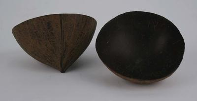 Two coconut shell ceremonial drinking cups presented by the Fijian people to E. J. Marsden, tour organiser, first Fijian Cricket Team Tour to Australia 1907-8