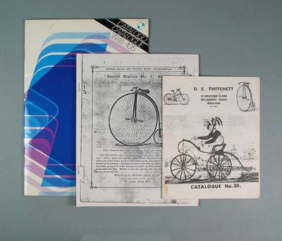 Seven brochures, advertising cycling parts