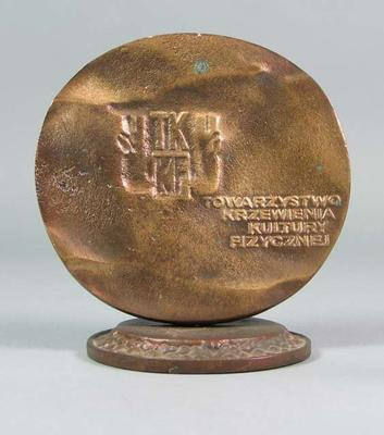 Bronze mounted medal inscribed in Polish - TKKF (Society for Promotion of Physical Culture) - Brian Dixon collection