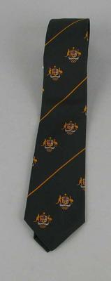 Australian Olympic Tie worn by William Ager; Clothing or accessories; 2006.4423.106
