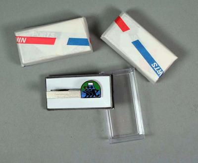 Tie clips x 3 - Lake Kawaguchi Nikkan Sports Marathon 25/11/90 - Brian Dixon collection