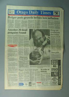 "Newspaper, ""The Otago Daily Times"" 31 January 1990"