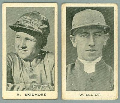 1932 Godfrey Phillips Australian Sporting Celebrities W Elliott & H Skidmore trade cards