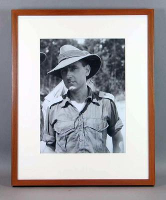 Copy of framed black and white portrait photograph, Bernard Callinan, Melbourne Cricket Club member; Photography; M16025