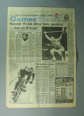 "Newspaper, ""The Otago Daily Times"" 1 February 1990"