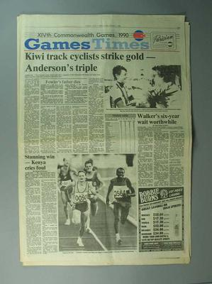 "Newspaper, ""The Otago Daily Times"" 2 February 1990"