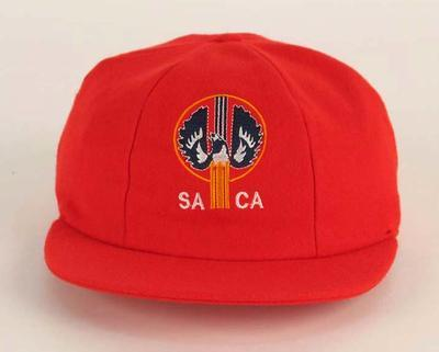 South Australian State Cricket Cap issued by the South Australian Cricket Association, 2005; Clothing or accessories; M16084
