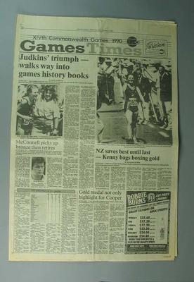 "Newspaper, ""The Otago Daily Times"" 3 February 1990"