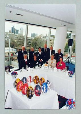 Colour photograph of some of the attendees to the MCC Inaugural No. 1 Ticketholders' Luncheon, 15 September 2005