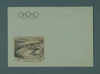 Envelope, 1952 Olympic Games design; Documents and books; 1995.3098.17