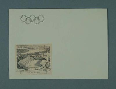 Envelope, 1952 Olympic Games design; Documents and books; 1995.3098.18