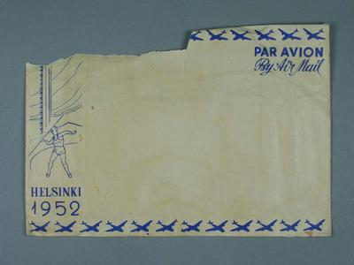 Envelope, 1952 Olympic Games design; Documents and books; 1995.3098.19