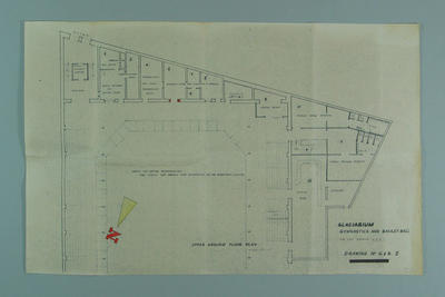 Architect's drawing of proposed Melbourne Glaciarium, c1955; Documents and books; 1995.3108.314.2