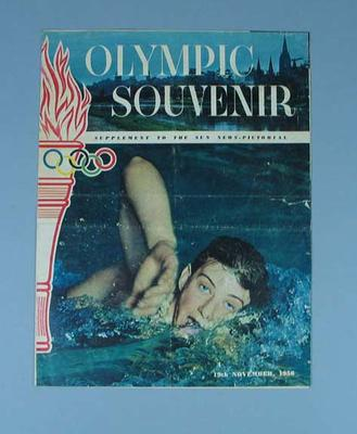 1956 Melbourne Olympics,  Souvenir Supplement to the Sun News-Pictorial, 19 November 1956; Documents and books; 1986.258