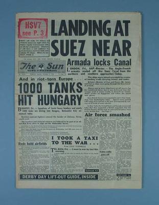 The Sun newspaper, December 3 1956