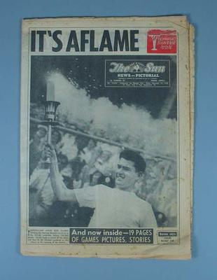 The Sun newspaper Olympic Games souvenir edition, November 23 1956; Documents and books; 1986.519