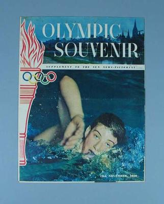 """The Sun newspaper """"Olympic Souvenir"""" supplement, November 19 1956; Documents and books; 1986.520"""
