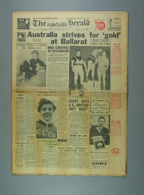 Newspaper, The Herald - 27 November 1956; Documents and books; 1988.1908.1