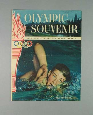 Newspaper supplement, The Sun Olympic Souvenir - 19 November 1956; Documents and books; 1988.1908.4
