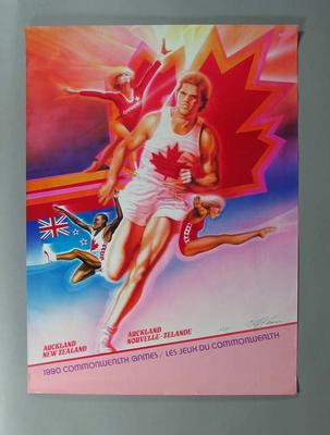 Poster promoting Canadian team, Commonwealth Games Auckland 1990