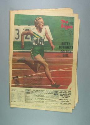 Newspaper, The Argus - 30 November 1956