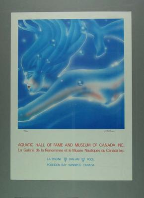 Poster for the Aquatic Hall of Fame and Museum of Canada Inc. Edition 205/500 signed by artist  Vesa Peltonen