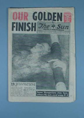 """Newspaper, """"The Sun"""" 8 Dec 1956; Documents and books; 1991.2425.13"""