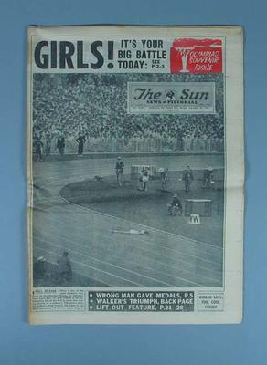 "Newspaper, ""The Sun News-Pictorial"" 26 Nov 1956"