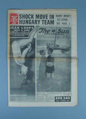 "Newspaper, ""The Sun News-Pictorial"" 6 Dec 1956"