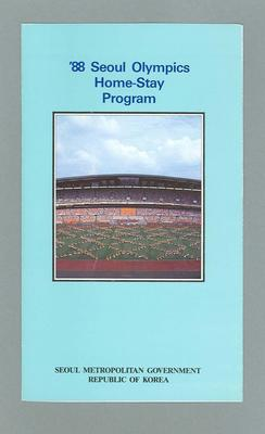 "Pamphlet, ""'88 Seoul Olympics Home-Stay Programme"""