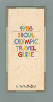 """Pamphlet, """"1988 Seoul Olympic Travel Guide"""""""