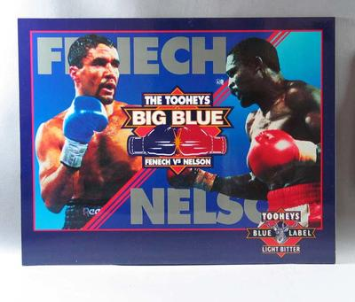 Mounted poster, Fenech v Nelson Tooheys Big Blue boxing bout 1992