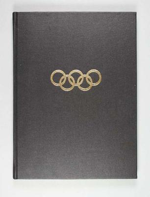 Stamp album containing Olympic Games related material, vol 1