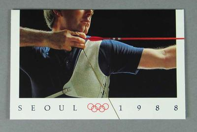Stamp pack, 1988 Seoul Olympic Games