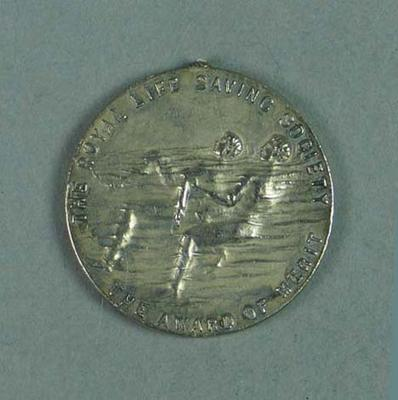 RLSS Award of Merit silver medallion, presented to Frank Beaurepaire in 1910