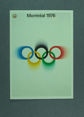 1976 Montreal Olympic Games poster, reproduced as a coloured postcard by the I.O.C. in 1985 and contained inCard Wallet