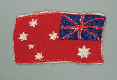 Cloth badge, embroidered Union Jack & Southern Cross