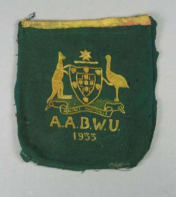 Blazer pocket, Australian Amateur Boxing and Wrestling Union 1933