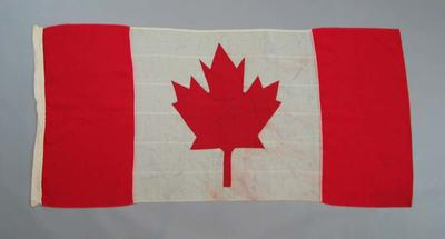 Canadian flag, used at the 1954 British Empire & Commonwealth Games