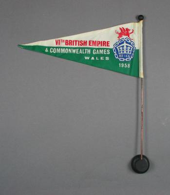 Car pennant - VI British Empire & Commonwealth Games, Wales, 1958