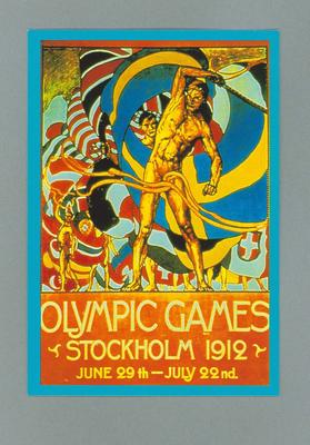 Poster, 1912 Stockholm Olympic Games