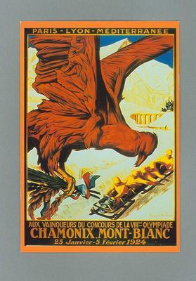 Poster, 1924 Chamonix Olympic Games