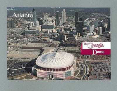 Postcard with image of the Georgia Dome, Atlanta