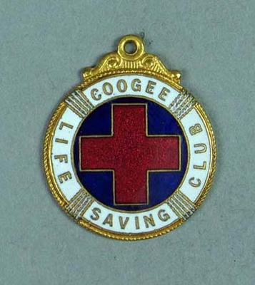 Coogee Life Saving Club Honarary Life Membership Medallion, presented to Frank Beaurepaire in 1922