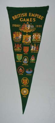 Commemorative pennant, 1938 British Empire Games