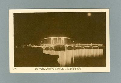 Postcard depicting bridge by night, 1928 Olympic Games