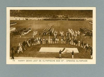 Postcard depicting Opening Ceremony, 1928 Amsterdam Olympic Games