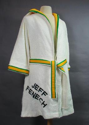 Towelling robe, worn by Jeff Fenech c1985-86