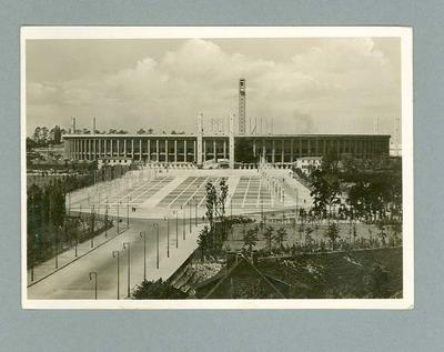 Postcard, depicts 1936 Olympic Games stadium